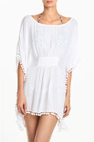 Latest design fashion ladies white ruffled blouse for summer