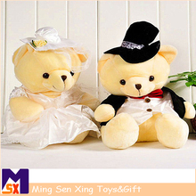 Customed soft stuffed valentines teddy bears wholesale for baby gifts