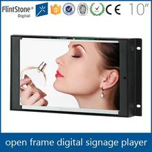 "FlintStone loop video 10"" advertising frameless lcd screens"