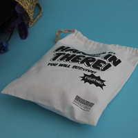 wholesale 10 ounce waxed cotton bag with drawstring