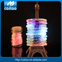 Alibaba Wholesale Birthday Party Suplies Led Light Bracelet Club Acrylic bracelet LED bracelet 2015