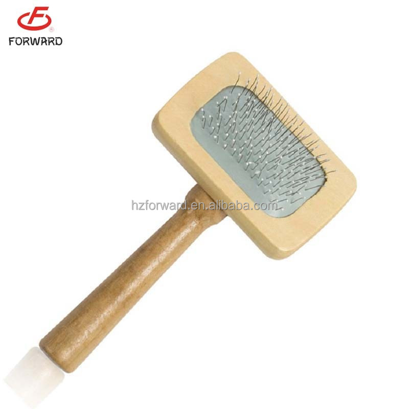 wooden pet deshedding tools pet deshedding brush for wholesale