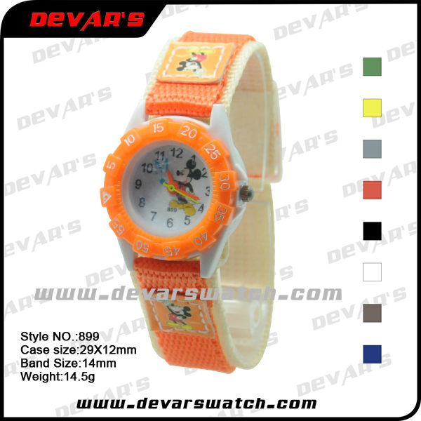 nylon strap watch kid with cartoon amercican boy sport watches
