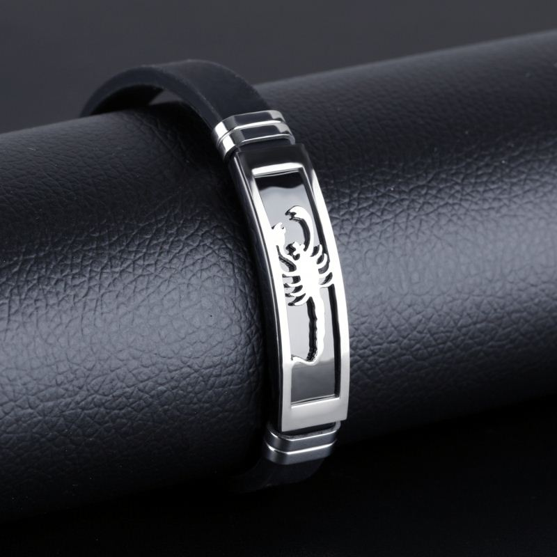 Best Selling Products 2016 Silver Thin Silicone Bracelet