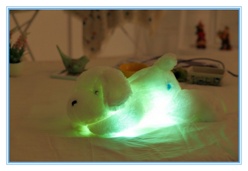 PP Cotton Best Gift High Quality Dog Shaped Led Light Plush Toy For Wholesale