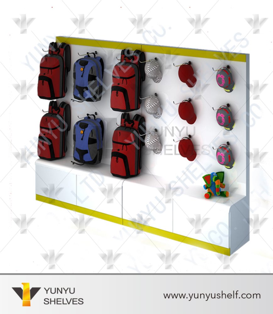 high end MDF fashion bag display fixture
