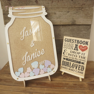 Custom Wood Wedding Drop Box Mason Jar Guest Book With Heart Nursery Home Decor Baby Milestone 264400