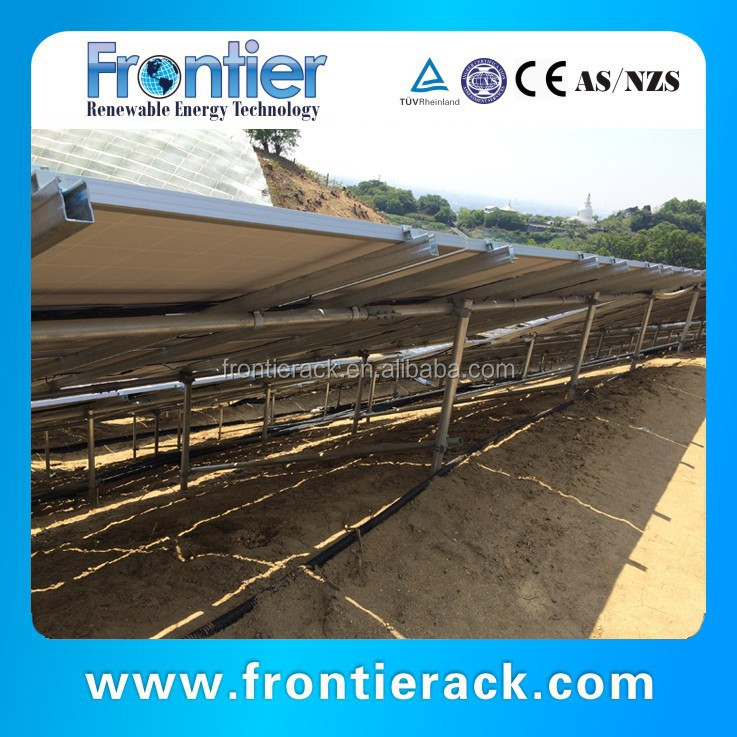 high quality Galvanized steel ground Adjustable Angle solar panel support structures rack
