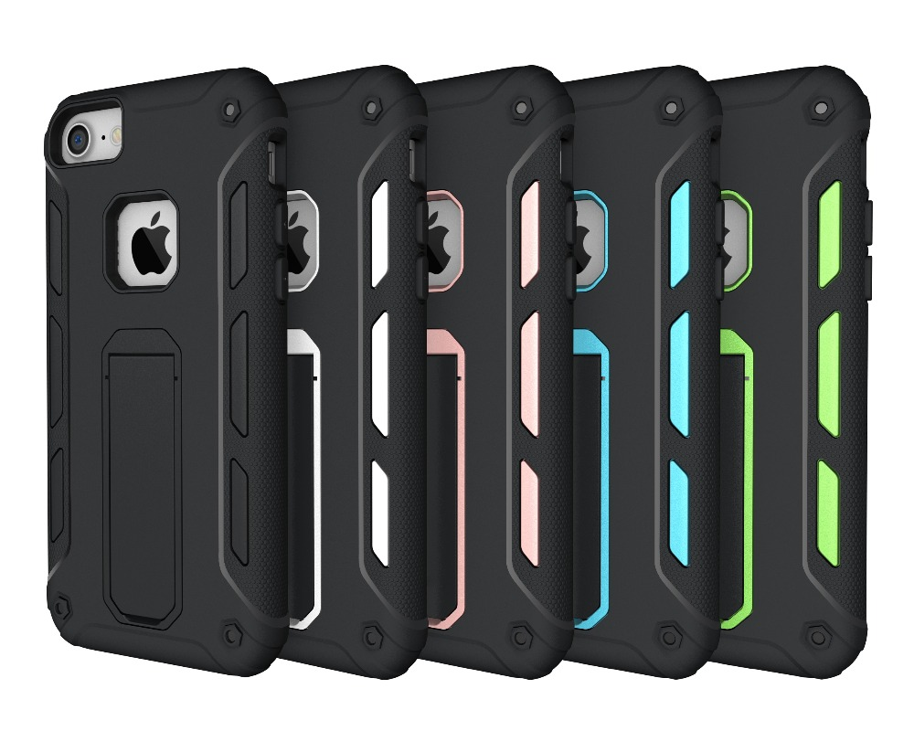 For iPhone 7 Tough Armor TPU + PC Combination Case With Stand
