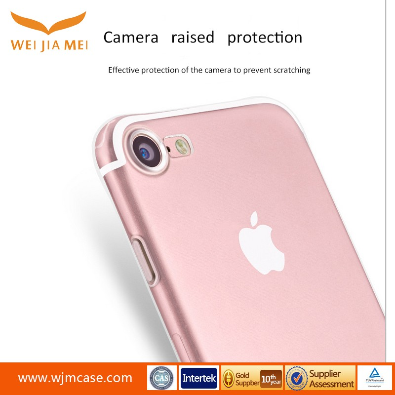 Mobile shell Silicone Transparent tpu anti fall case for iphone 7 cover, Simple full cover