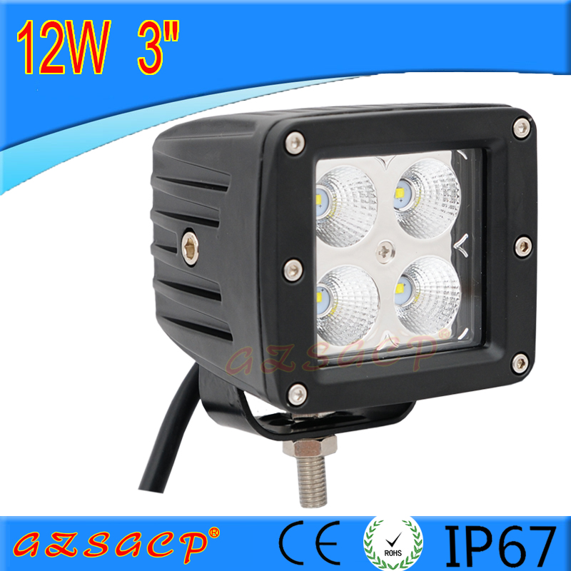 1 year warranty 12w rechargeable blue point led work light for off road