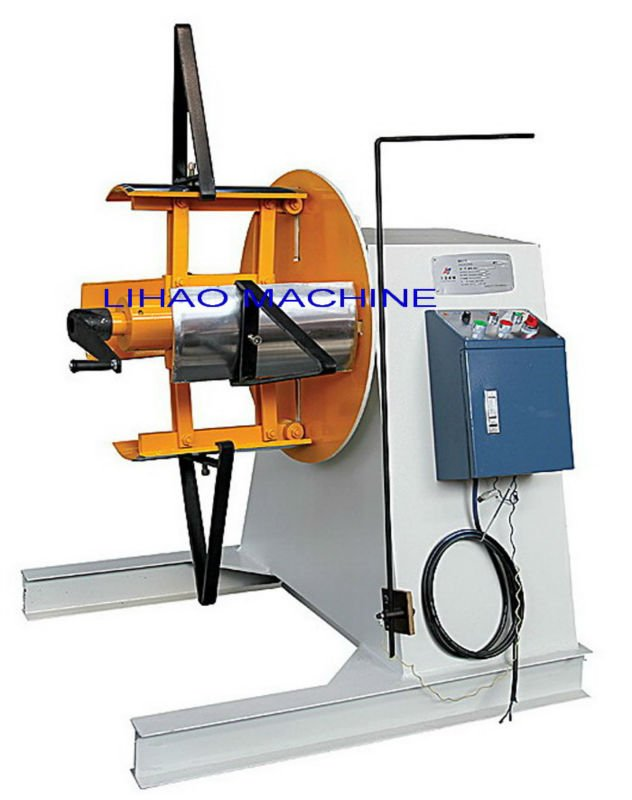 brass decoiler machine,sheet metal uncoiler,manual uncoiler machine