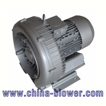 Double stage regenerative air blower for cement conveying