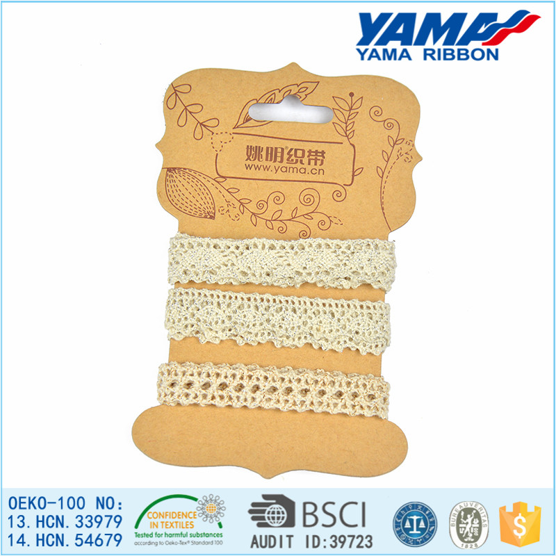 New fashion cotton lace trim decorative lace trim for garments and girls' accessories