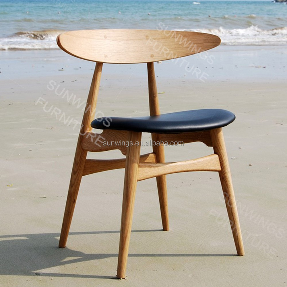 Simple wooden dining chairs - Simple Style Wood Relaxing Dining Chair Furring Back Wood Dining Chair
