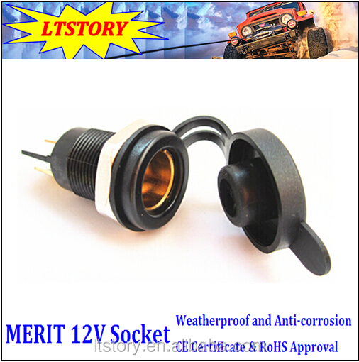 Merit 12V Power Socket Black color