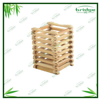 Eco-friendly bamboo dinnerware holder