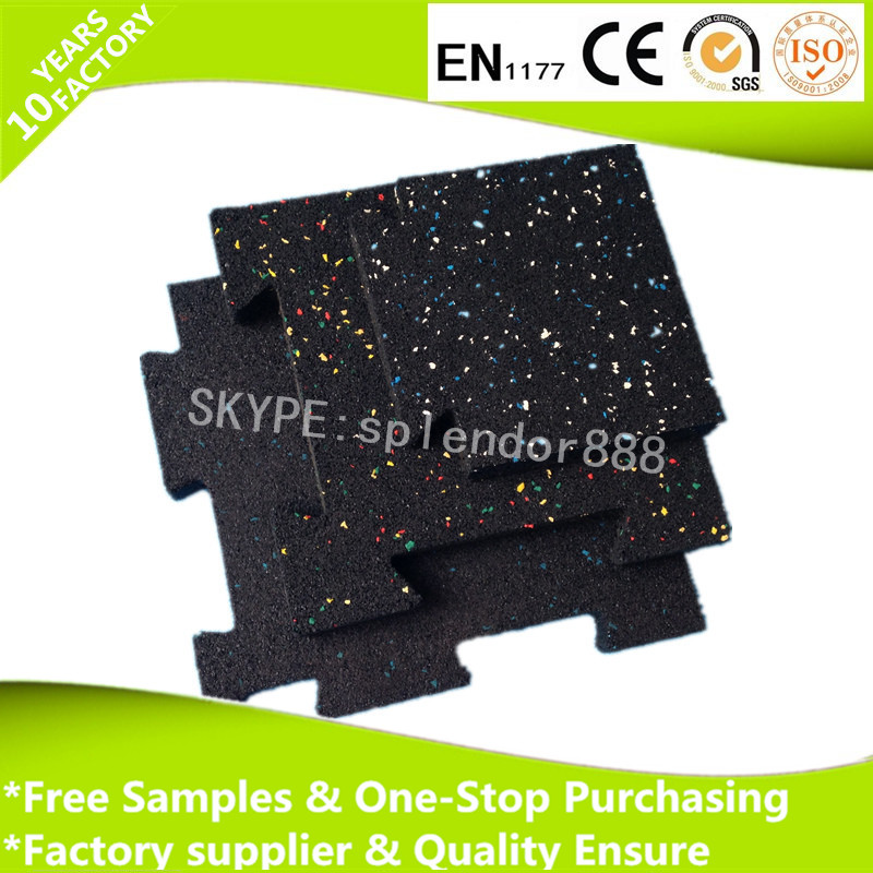 Multi-Purpose fire resistant Colorful EPDM rubber granules gym flooring mat for fitness playground sports court