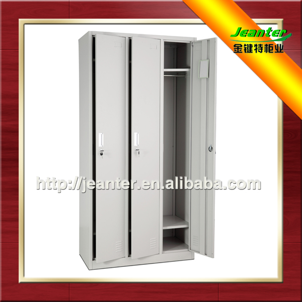 Prompt Delivery Chinese Manufacturer Commercial Metal Furniture KD Structure Flat Pack Folding Steel Bathroom Locker