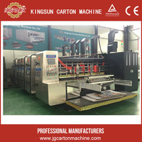 flexo printer and slotter machine for carton box/chain feeding corrugated cardboard 4 color printing machine