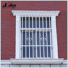 Latest modern simple steel/iron window grill design for homes
