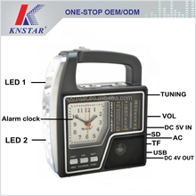 Alarm clock FM AM SW radio bluetooth LED torch light mp3 player