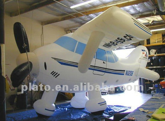Inflatable airplane cute model custom shape