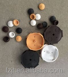 small round plastic electrical junction box