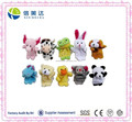 Different Kinds of Animals Shaped Plush Finger Puppet Set for Kids