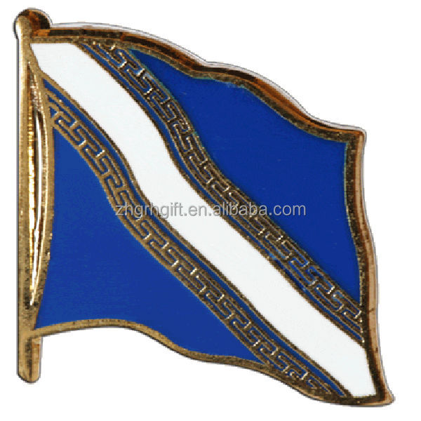 Factory supply metal national country france champagne ardenne flag pin badge