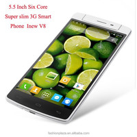 OEM back touch 5.5 inch android Six Core 3g video calling mobile phone