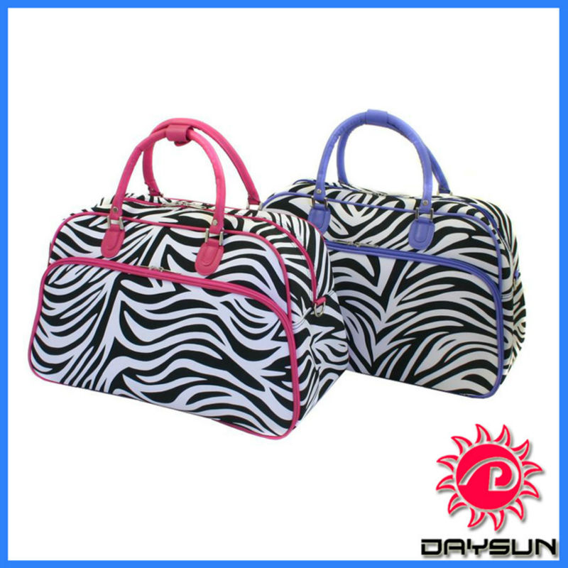 Traveler Women's Zebra Print Shoulder Tote Bag