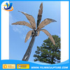 Outdoor decorative metal palm trees, stainless steel tree sculpture