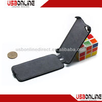 Hot-presing styling design and litchi grain cell phone holster case for iphone5c