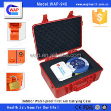 Trade Assurance WAP-health colorful waterproof IP67 hard outdoor plastic carrying case with ratatable handle
