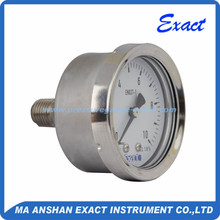 All stainless steel back connection manometer for water pressure