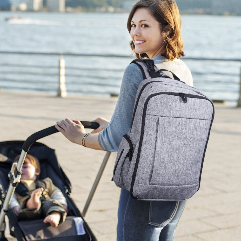 Multi-function Wholesale Diaper Bags Baby Diaper Bag Backpack With Stroller Straps