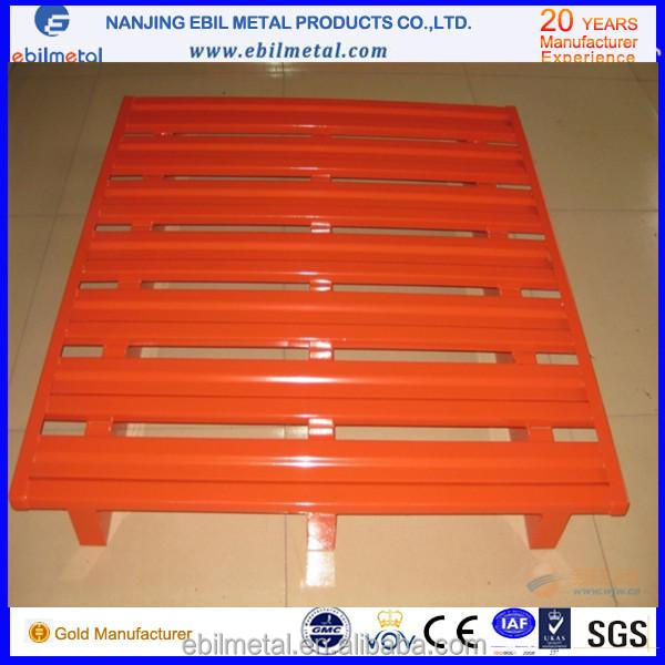 Factory Direct Warehouse storage stacking heavy duty steel double size pallet