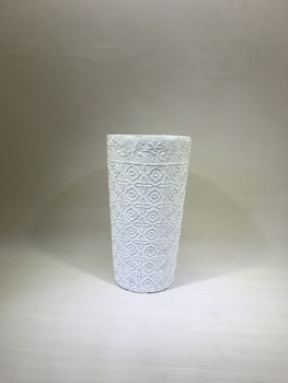 White Cement Pots