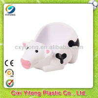 2014 New Promotional Gift,milk cow cell phone holder stress balls