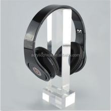 2015 Transparent Acrylic Headphone Display Stand, Acrylic Earphone Holder, Custom Acrylic Headphone Display