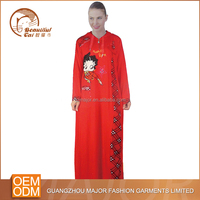 Wholesale baju muslim frock design arabic abaya for woman