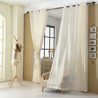 Indian style sheer curtain voile sheer jacquard fabric wholesale curtain