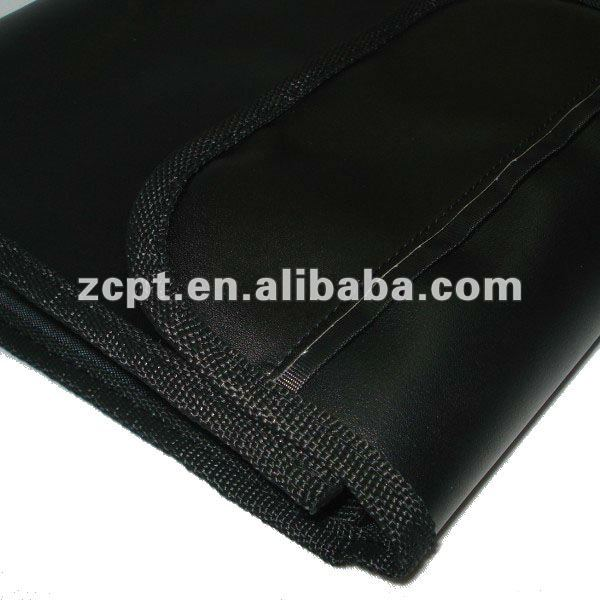 Black soft messenger leather bags pouch