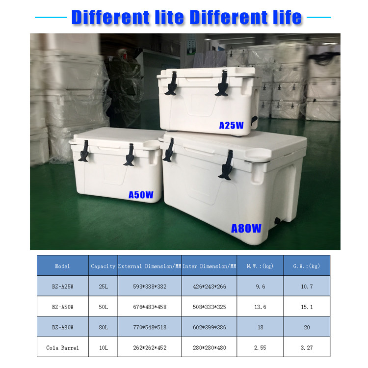 Rotomolded double walls marine coolers with excellent