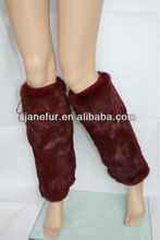 On Sale Free Shipping Fox Fur Lady Fashion Brown Boot Topper