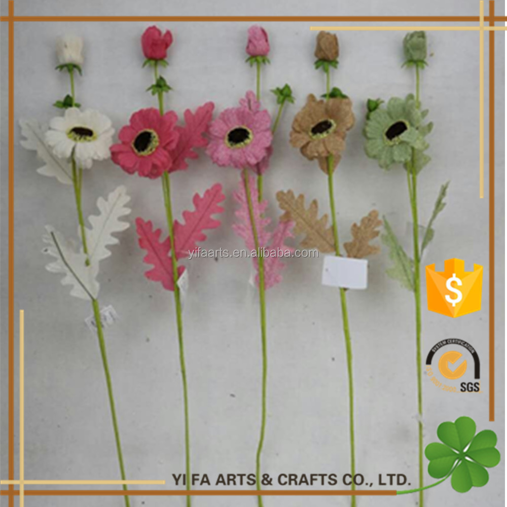 "25"" high quality christmas flower picks artificial Chrysanthemum flowers for pick artificial pick wholesale"