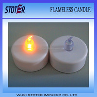 flameless feature and ps material lighted acrylic led tealight