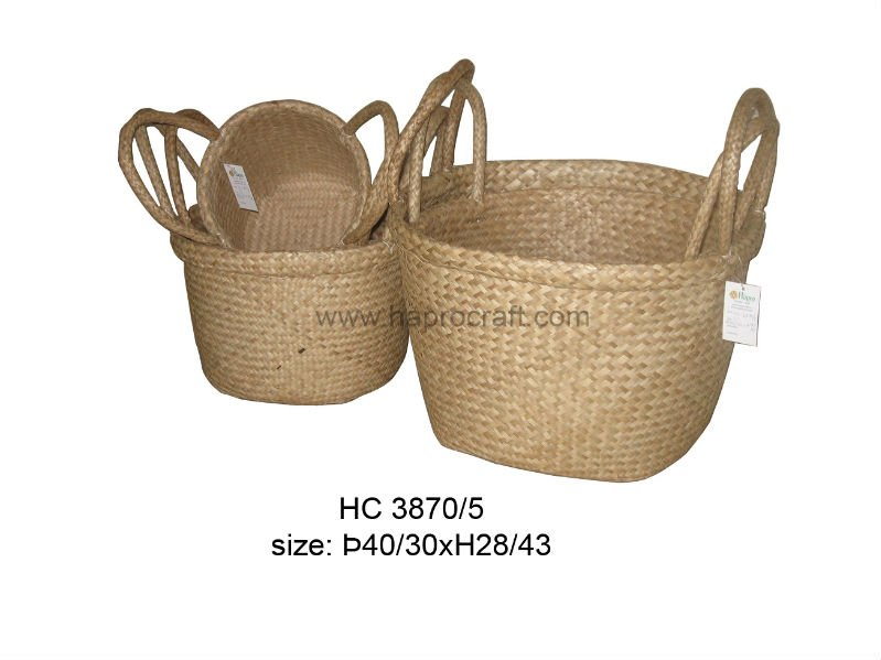 Seagrass Storage Basket Set