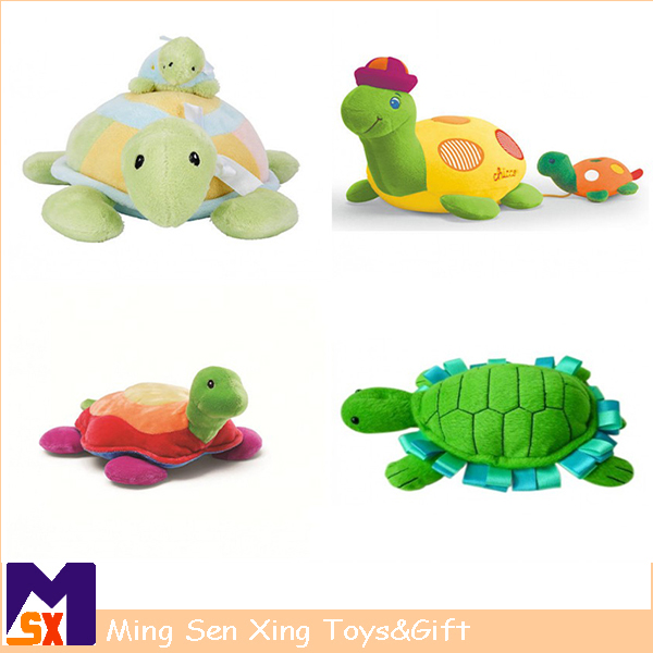 Shenzhen factory supply musical plush stuffed animal toy with turtle shape for babies